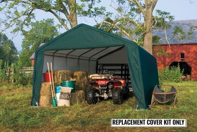 Replacement Cover Shelterlogic 62680 : Shelterlogic replacement cover kit peak green