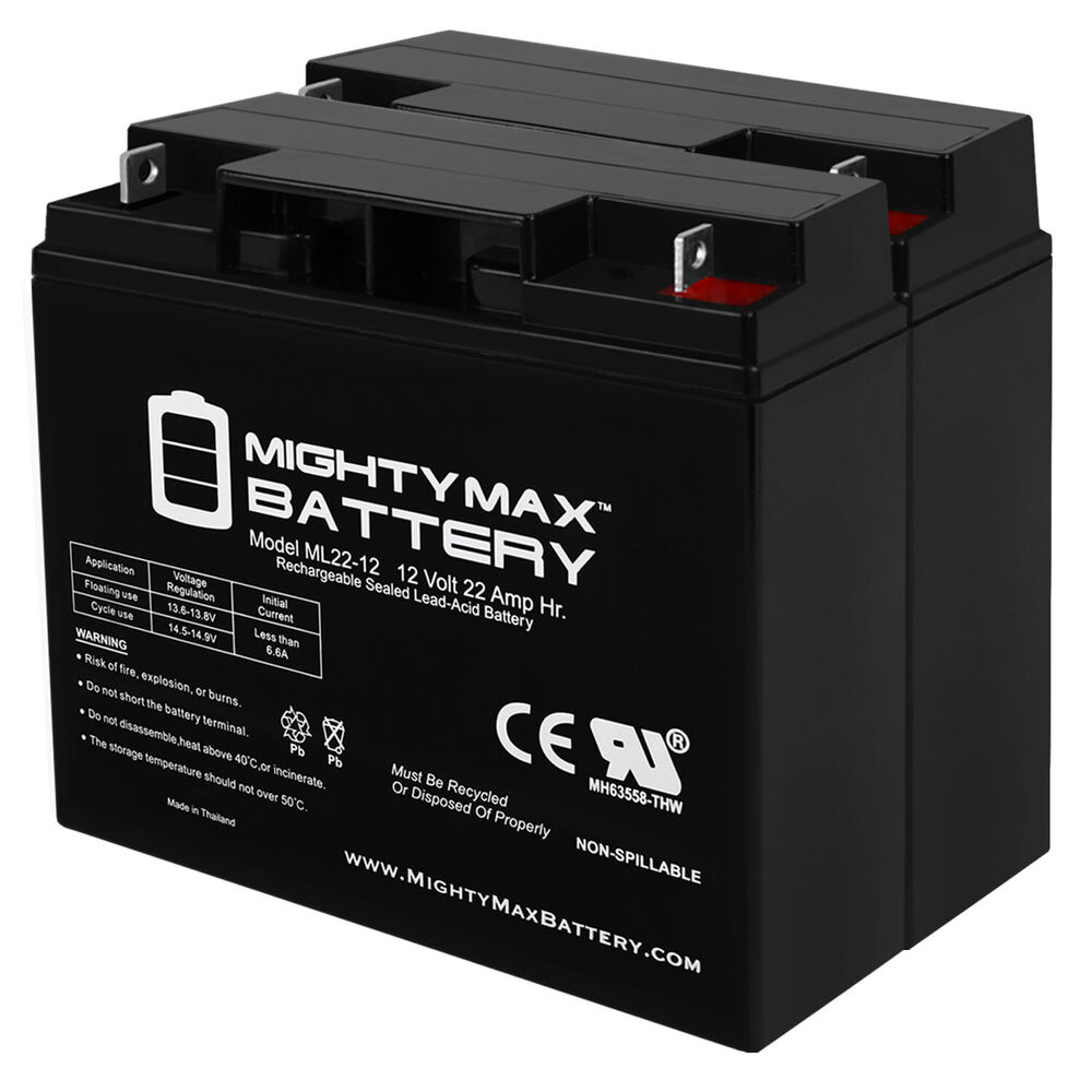 mighty max 12v 22ah battery for electric mobility rascal. Black Bedroom Furniture Sets. Home Design Ideas