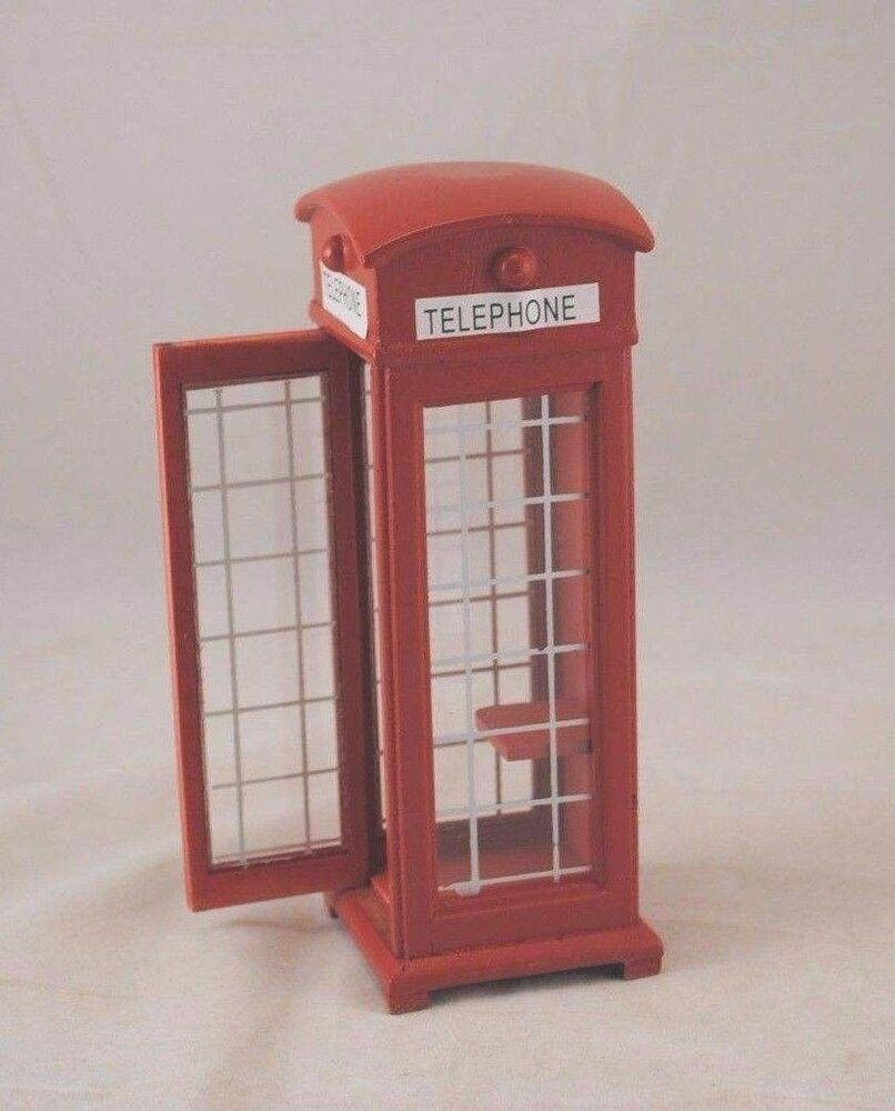 British Phone Booth Dollhouse Miniature 1/12 Scale T5965
