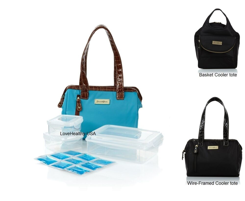 Samantha Brown Lunch Cooler Tote With Food Containers