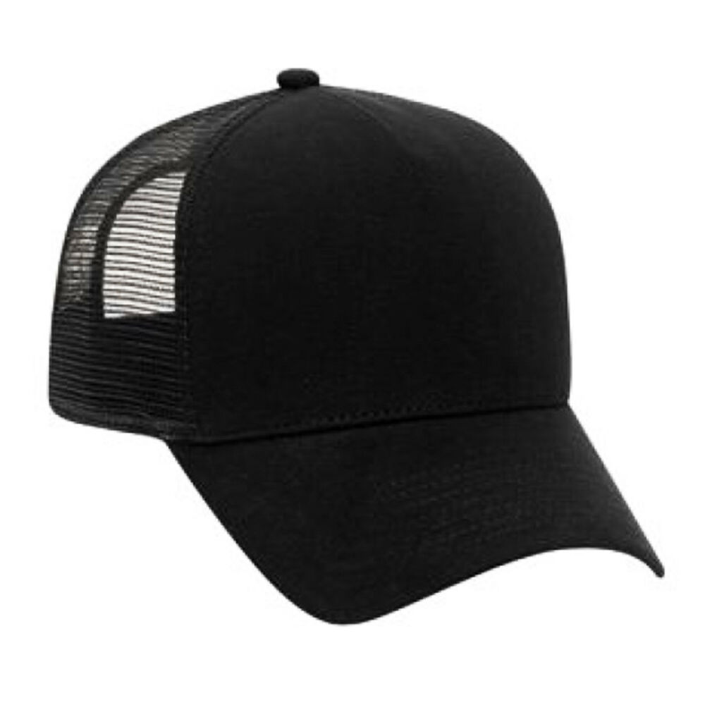 857026f7a3b Details about Cotton Flannel Trucker Hat with Adjustable Mesh Back Justin  Bieber SOLID BLACK