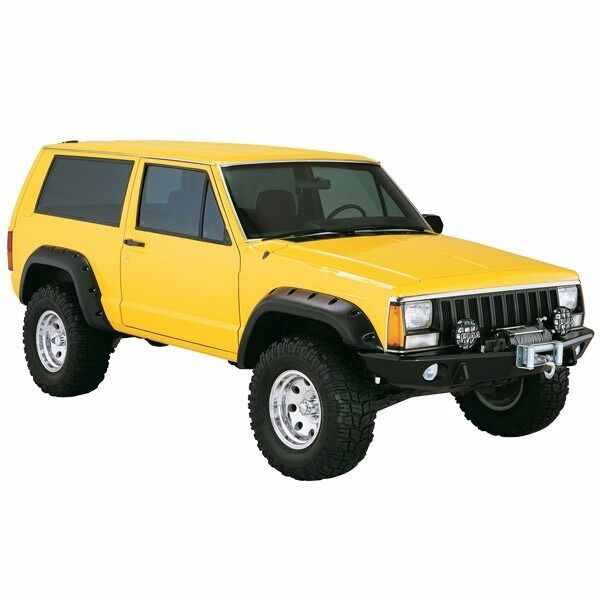 cut out fender flare kit jeep cherokee xj 1984 2001 2 door bushwacker. Cars Review. Best American Auto & Cars Review
