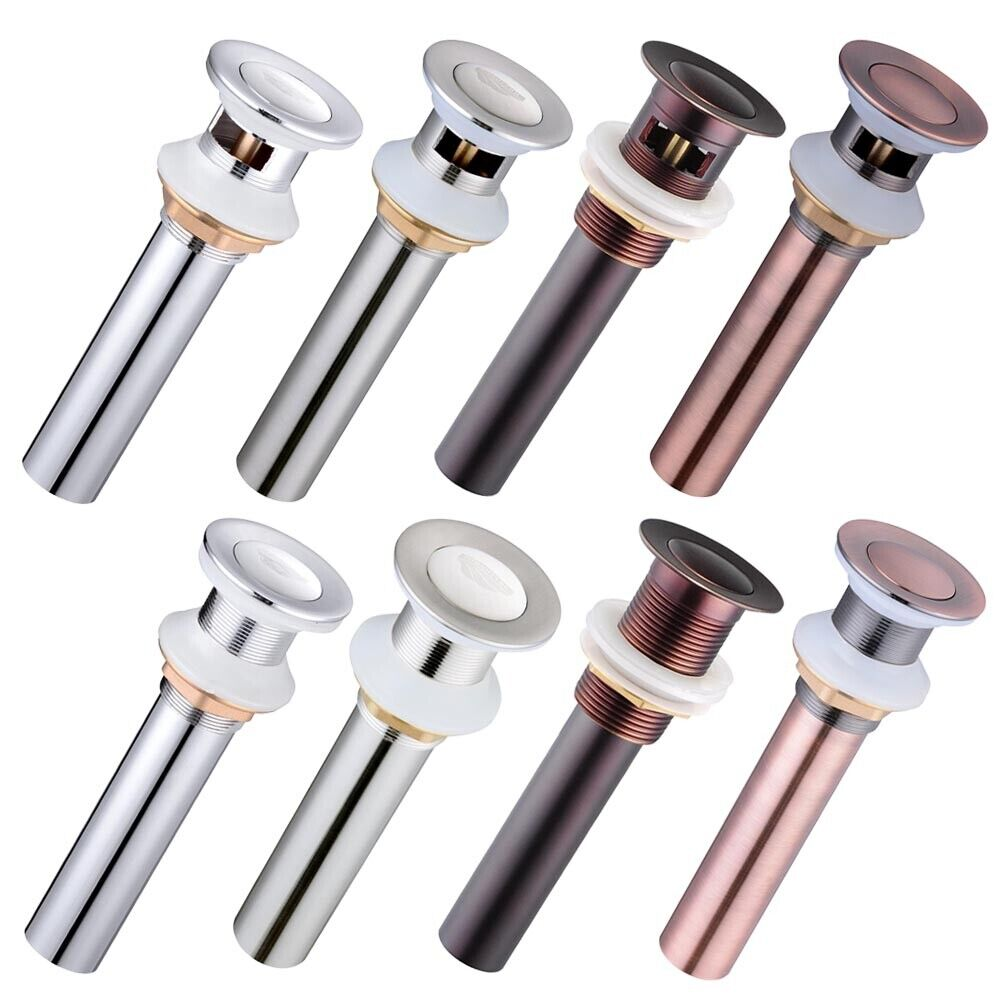 bathroom sink stopper assembly 1 1 2 quot bathroom sink overflow or non overflow brass pop up 16572