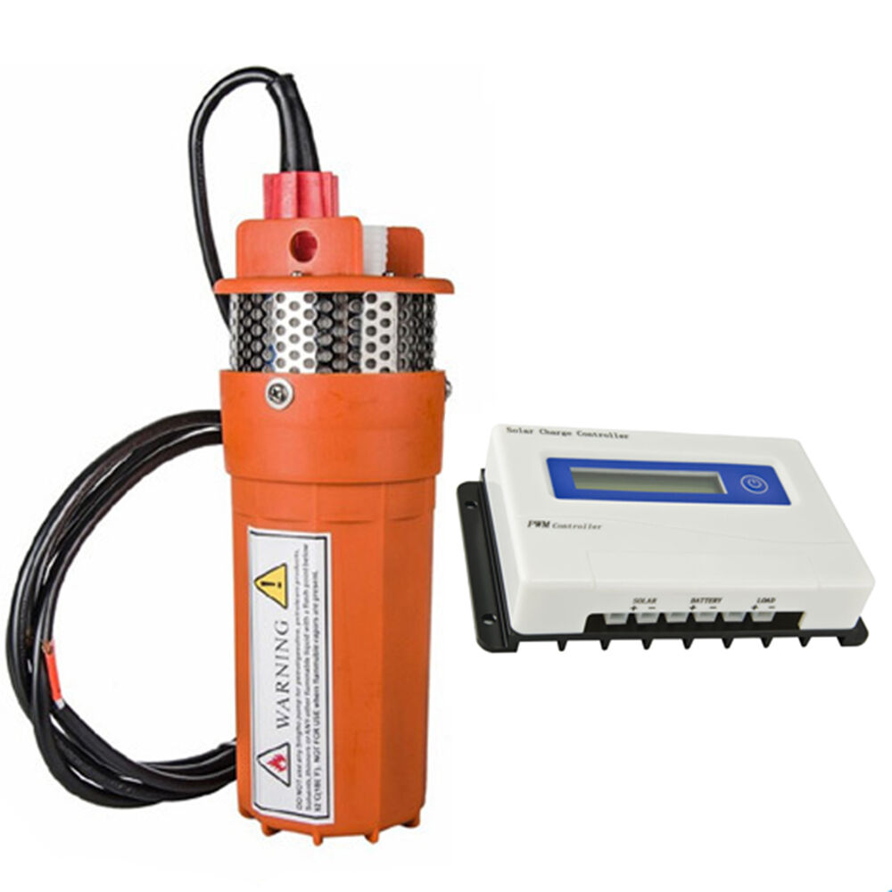 24v Farm Amp Ranch Submersible Deep Well Water Dc Pump 20a
