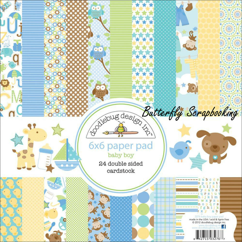 Baby Boy Snips Amp Snails Scrapbooking 6x6 Inch Paper Pad
