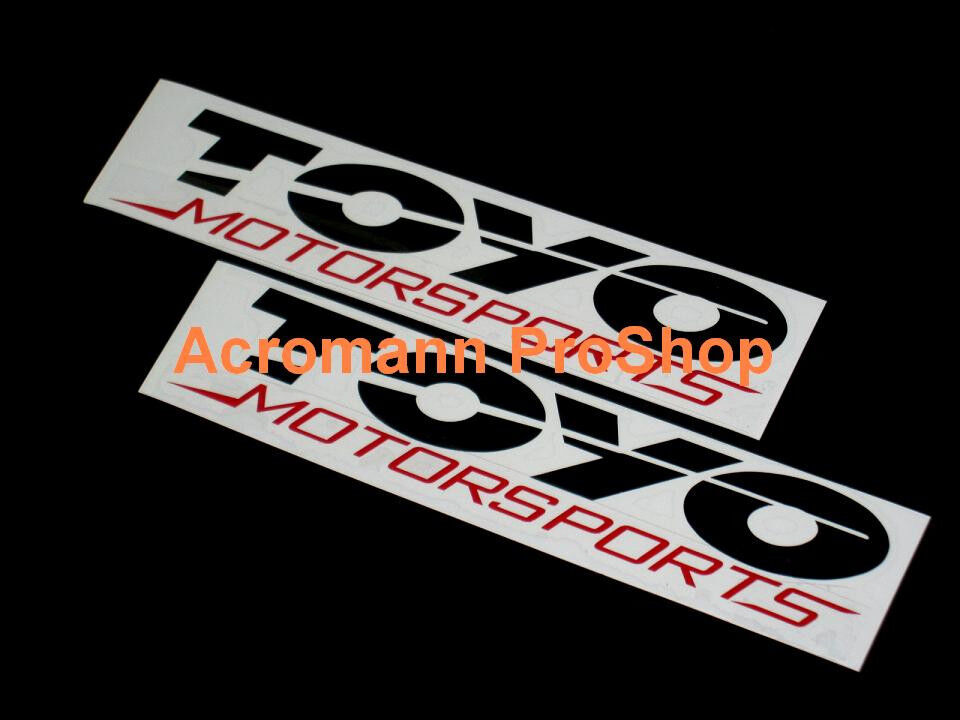 2x 6 Quot 15 2cm Toyo Motorsports Tires Decal Sticker Perform
