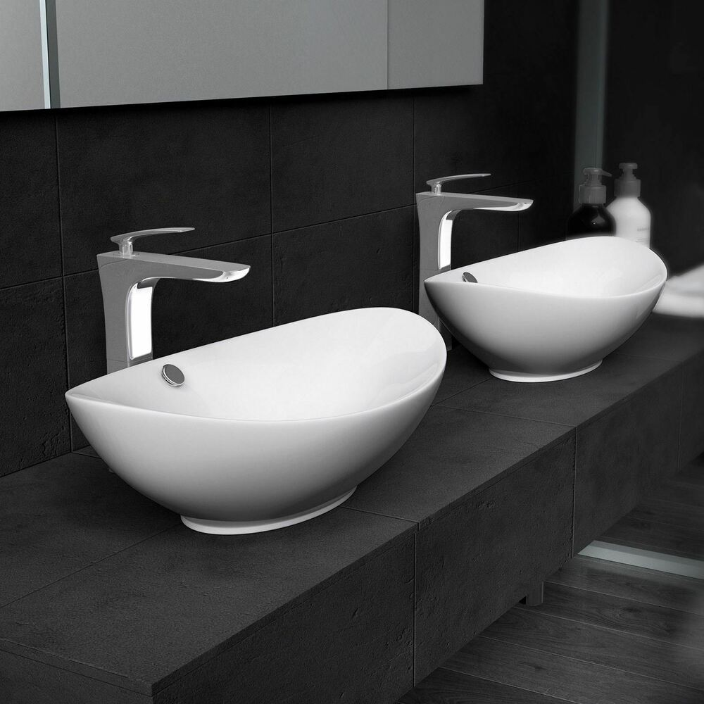 durovin luxury ceramic basin bowl modern design hand wash deep sink counter top ebay. Black Bedroom Furniture Sets. Home Design Ideas