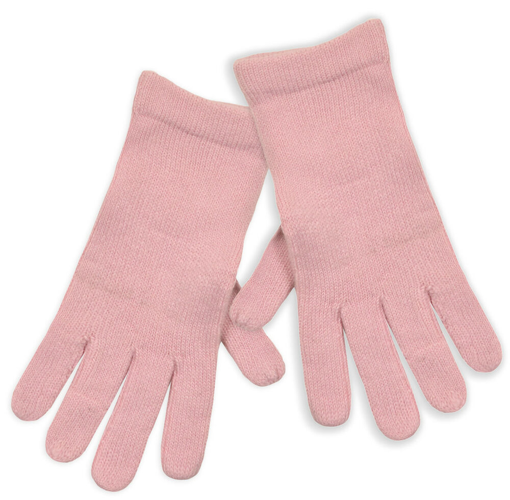 Ladies Pale Pink Knitted Winter Gloves New Women's Soft