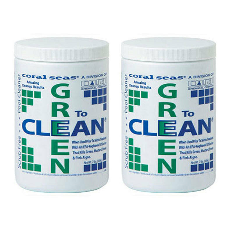 Green To Clean Algaecide Swimming Pool Chemical 4 Lbs Ebay