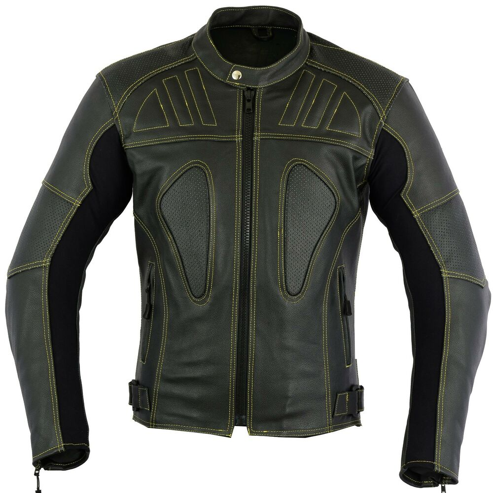 Skeleton Motorbike Leather Jacket Motorcycle CE Protection ...