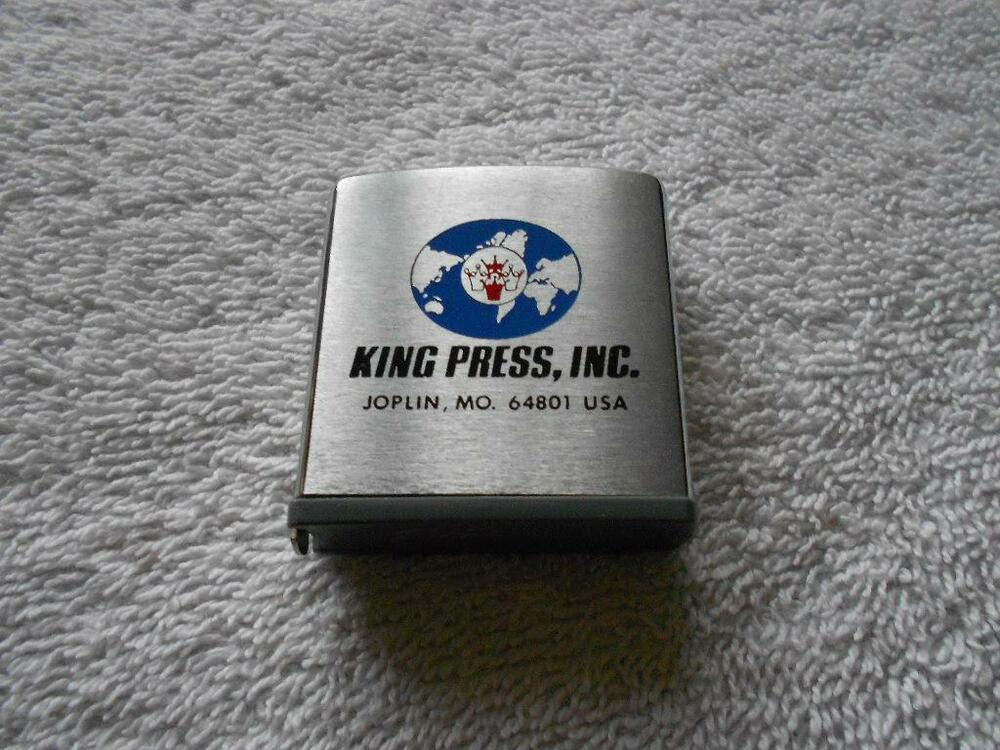 ZIPPO Pocket Tape Measure Advertising King Press Joplin