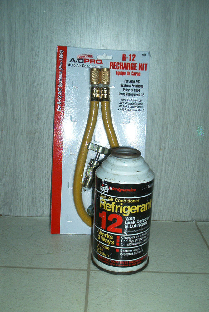 INTERDYNAMICS R-12 REFRIGERANT RECHARGE KIT WITH HOSE
