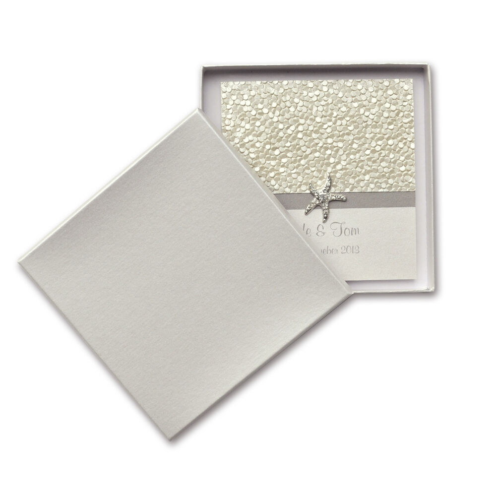 60 x Rigid Wedding Invitation Box - Square - S.Dream Quartz ...