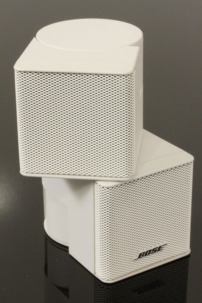 1x near mint bose acoustimass jewel cube speaker white. Black Bedroom Furniture Sets. Home Design Ideas