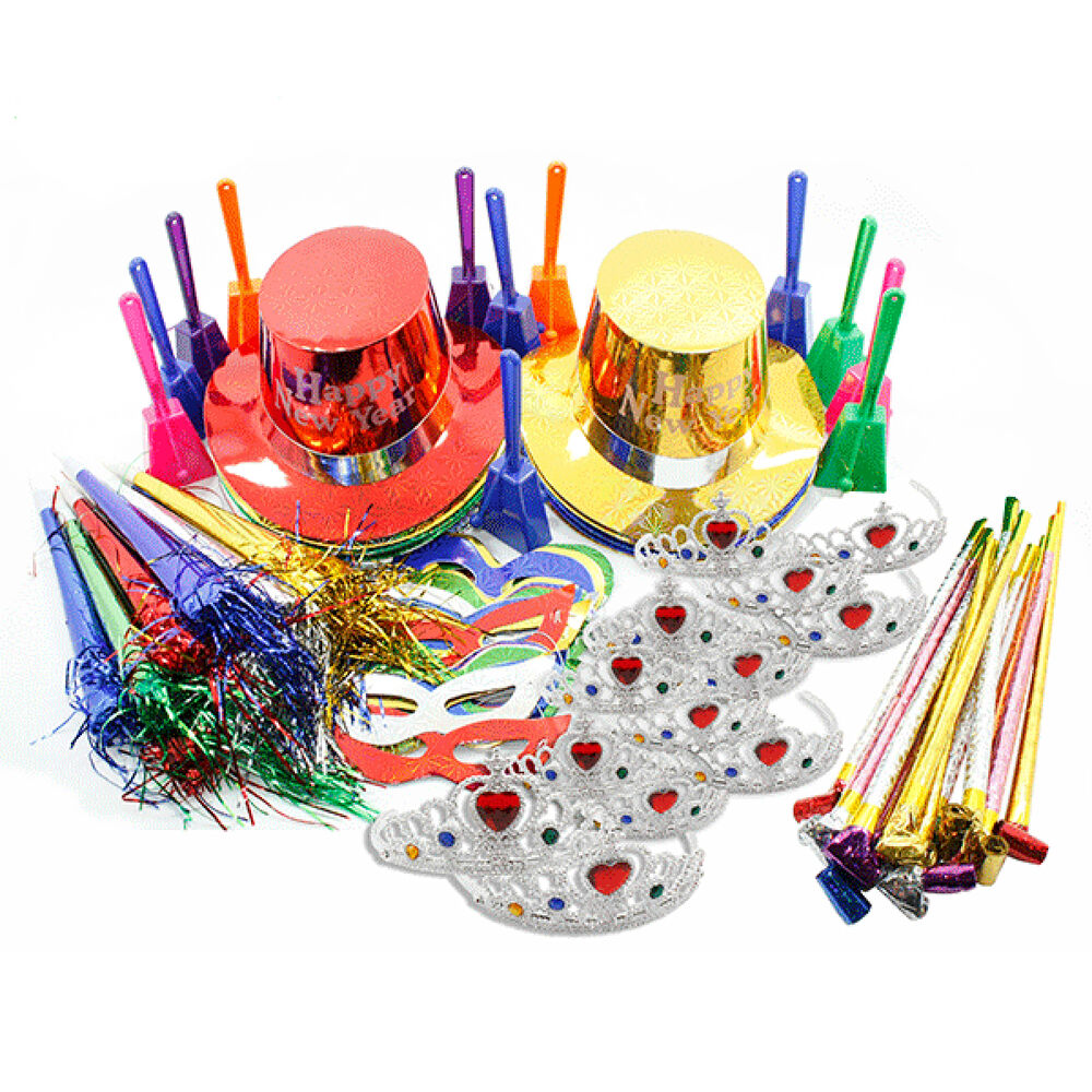 New Years Eve Ultimate Multi Colored Party Pack Kit for 25 ...