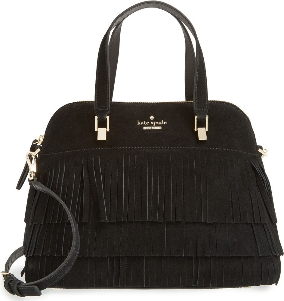 NWT Kate Spade MAISE Suede Fringe LEATHER purse bag | eBay