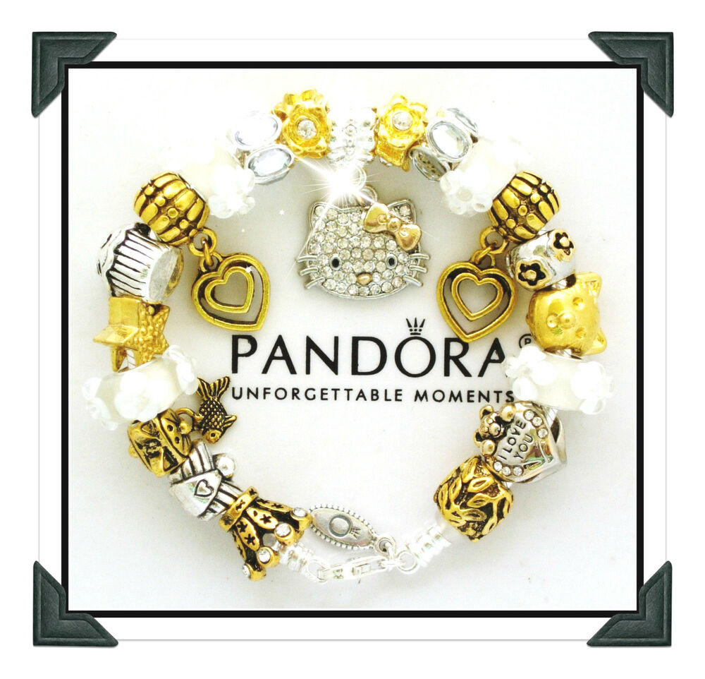 Authentic Pandora Silver Bracelet Hello Kitty Gold Silver European - Cool invoice template free pandora store online