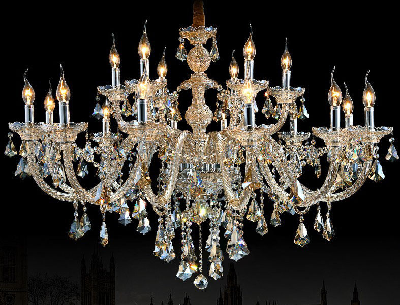 Cognac Large Eight Arms Luxury Crystal Chandelier Light