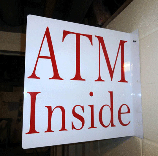 Atm Inside Wall Or Pole Sign 18 X 18 In Ebay