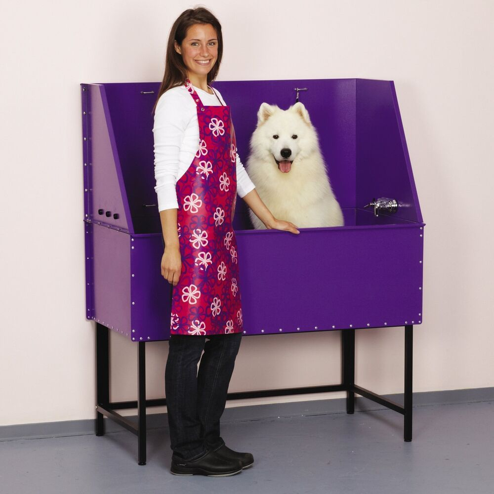 Master Equipment Grooming Table With Arm Master Equipment Everyday ProTub 48In Purple Pet Grooming Tub TP364-48 ...