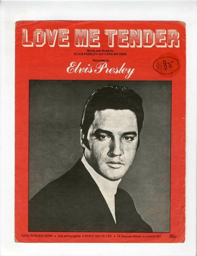 elvis presley sheet music 1956 love me tender british ebay. Black Bedroom Furniture Sets. Home Design Ideas