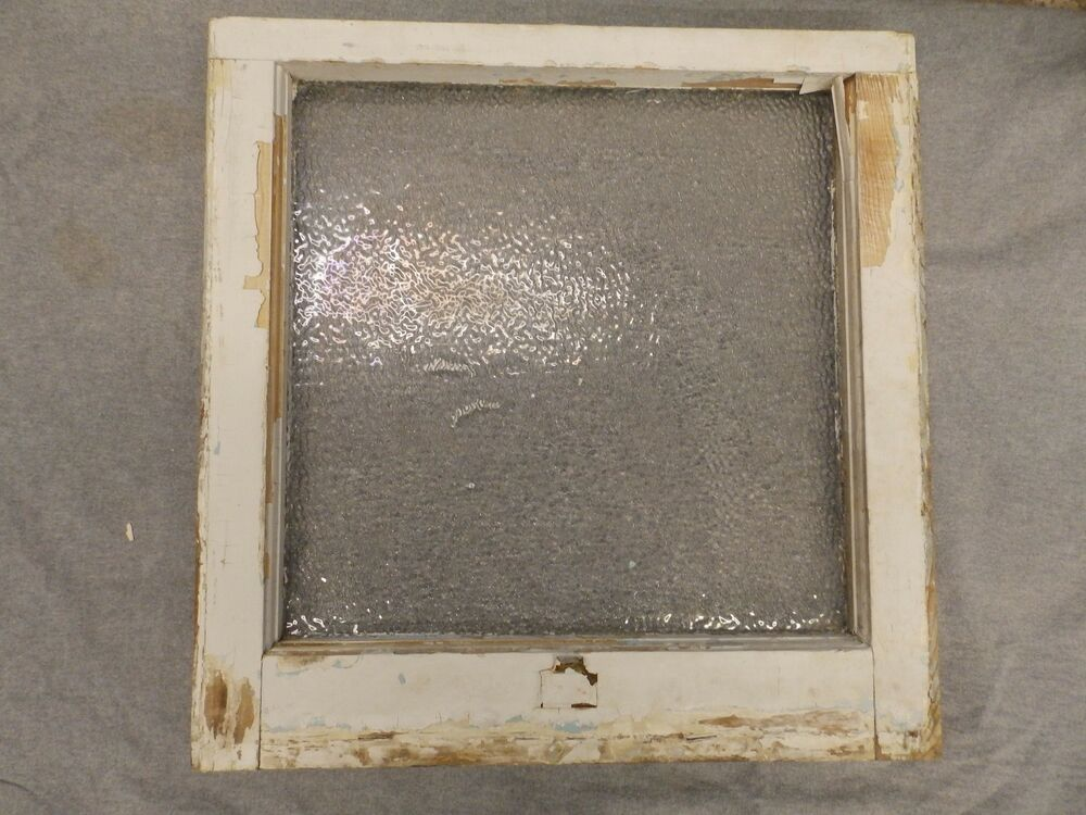 Antique window sash iced privacy glass pebbled old vtg for Glass windows