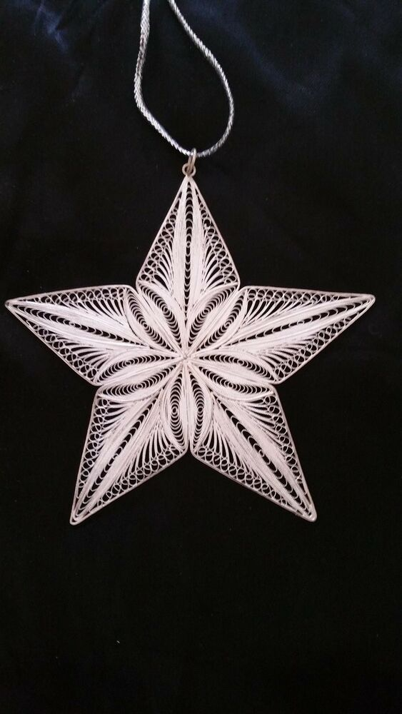 Rare Sterling Silver Christmas Ornament Star Ebay