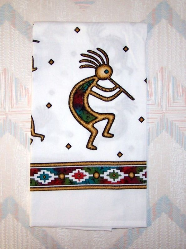 Kokopelli flour sack towel kay dee canyon dance pattern ebay Kay dee designs kitchen towels