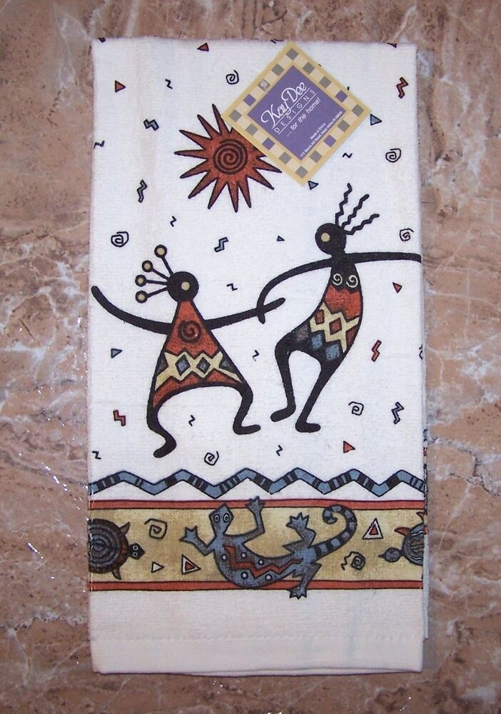 Kokopelli kitchen terry towel kay dee desert legends Kay dee designs kitchen towels
