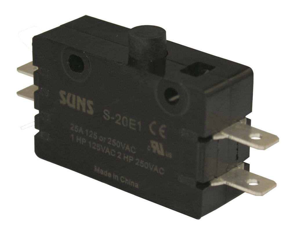 suns s-20e1 pin plunger 2no snap action 20a micro switch ... a tool for wiring a switch e20 wiring a switch