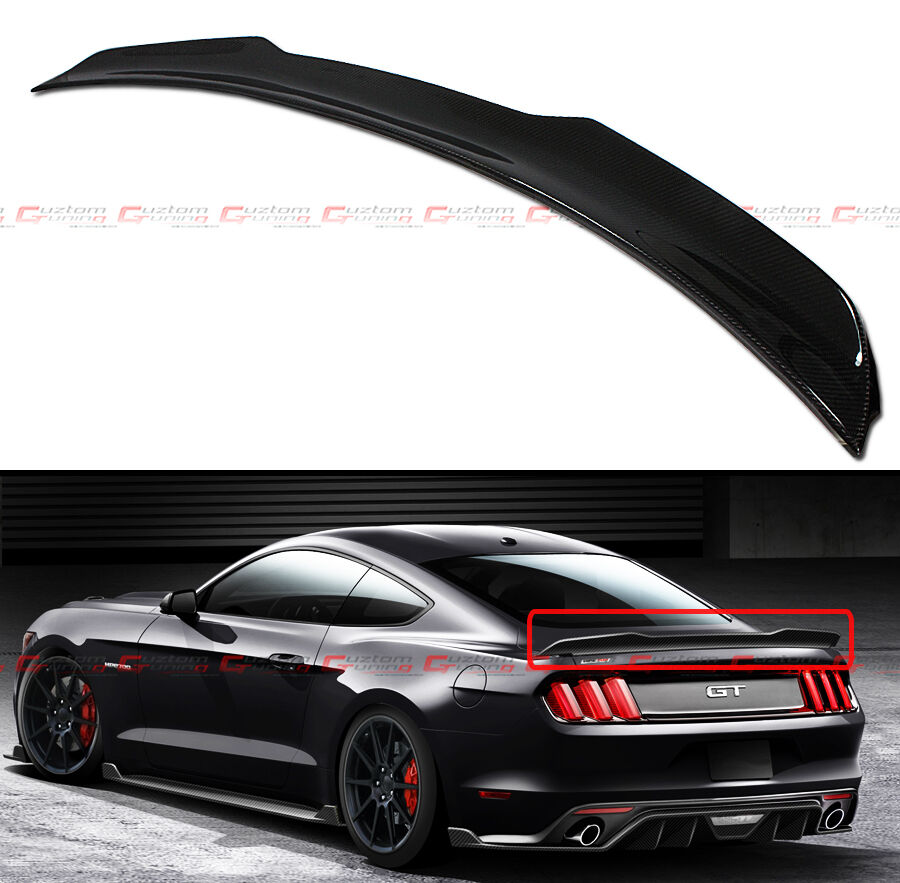 Tt Style Carbon Fiber Rear Spoiler For 2015 2019: For Ford Mustang 2015-2019 GT H Style Carbon Fiber Rear