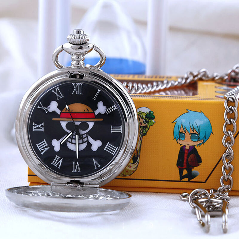 Vintage Anime One Piece Hollow metal Pocket watch necklace ...