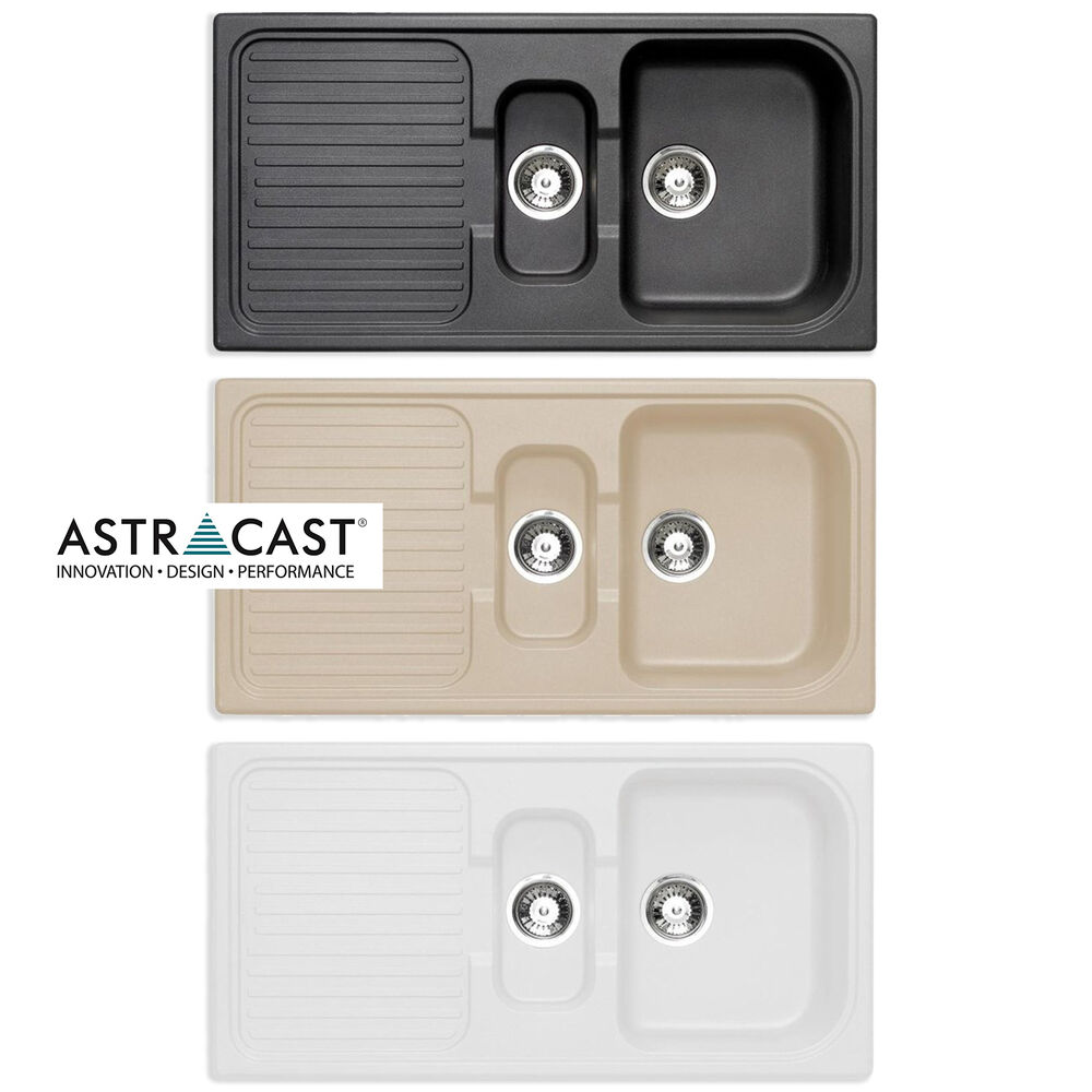Kitchen Sink Waste Kit: Astracast ROK Granite Composite Kitchen Sink & Waste Kit 1