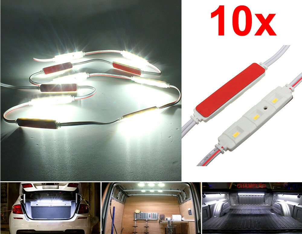 10x 3 led strip bar light for car trunk cargo area interior extra illumination ebay. Black Bedroom Furniture Sets. Home Design Ideas