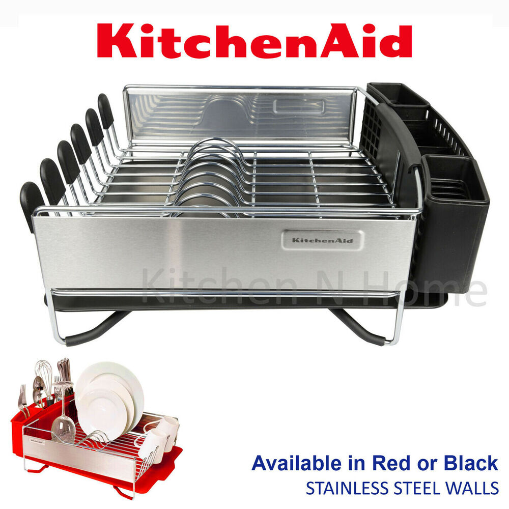 Kitchen sink stainless steel double drainer single bowl in vic ebay - Kitchenaid Dish Rack Kitchen Aid Dishrack Dish Drainer With Tray Holder