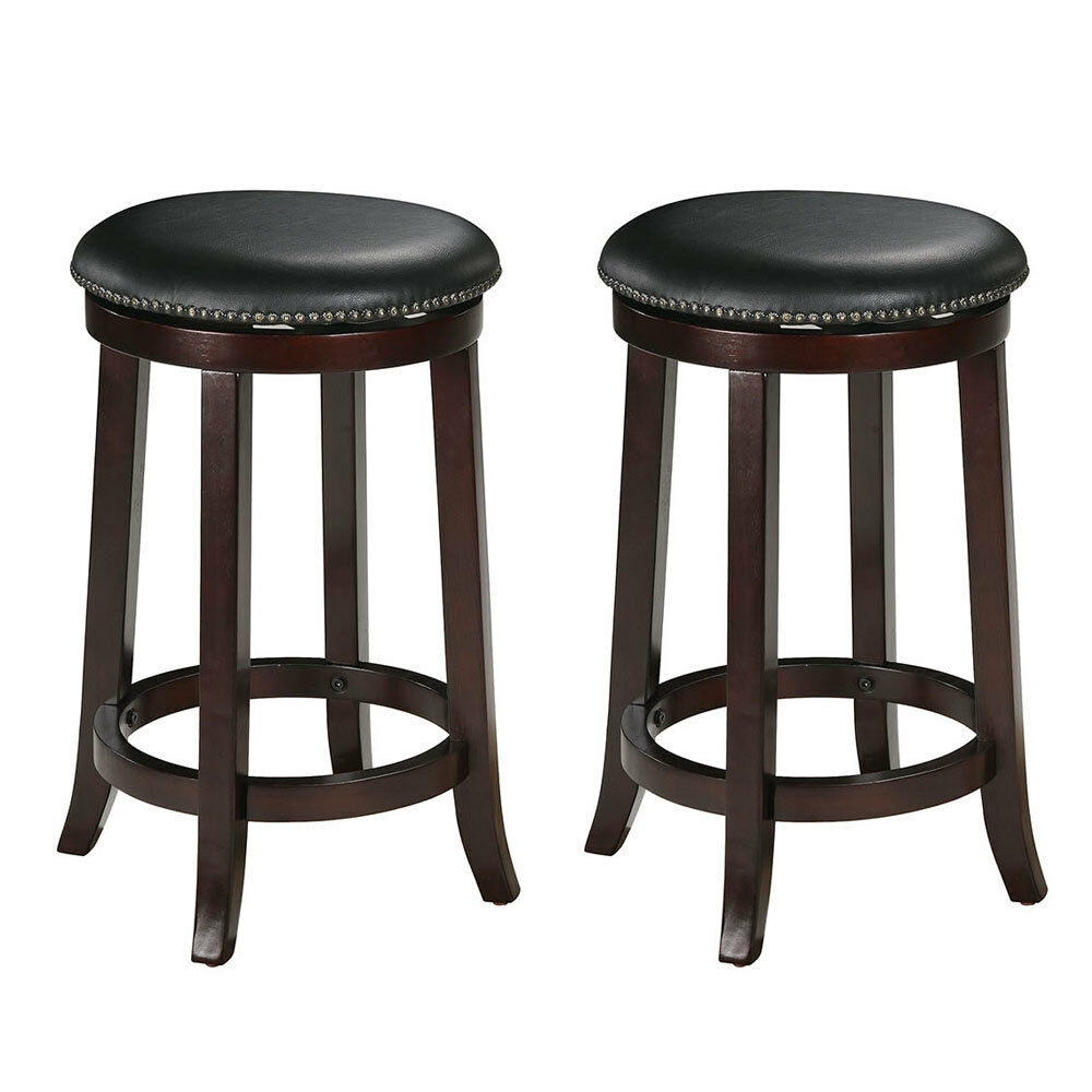 Chelsea 24 Quot Round Pu Swivel Counter Height Stool Barstool