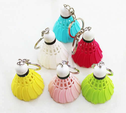 keyring shuttlecock key chain keychain small pendant six color optional