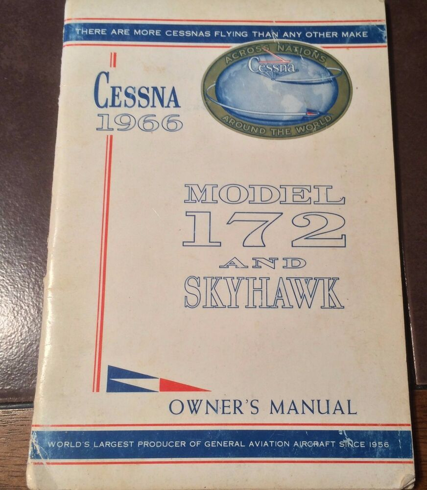1966 Cessna 172g Owners manual jeep Wrangler