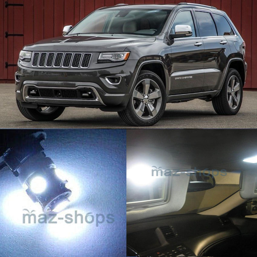 17pcs Interior Led White Lights Package Kit For Jeep Grand Cherokee 2011 2015 Ebay