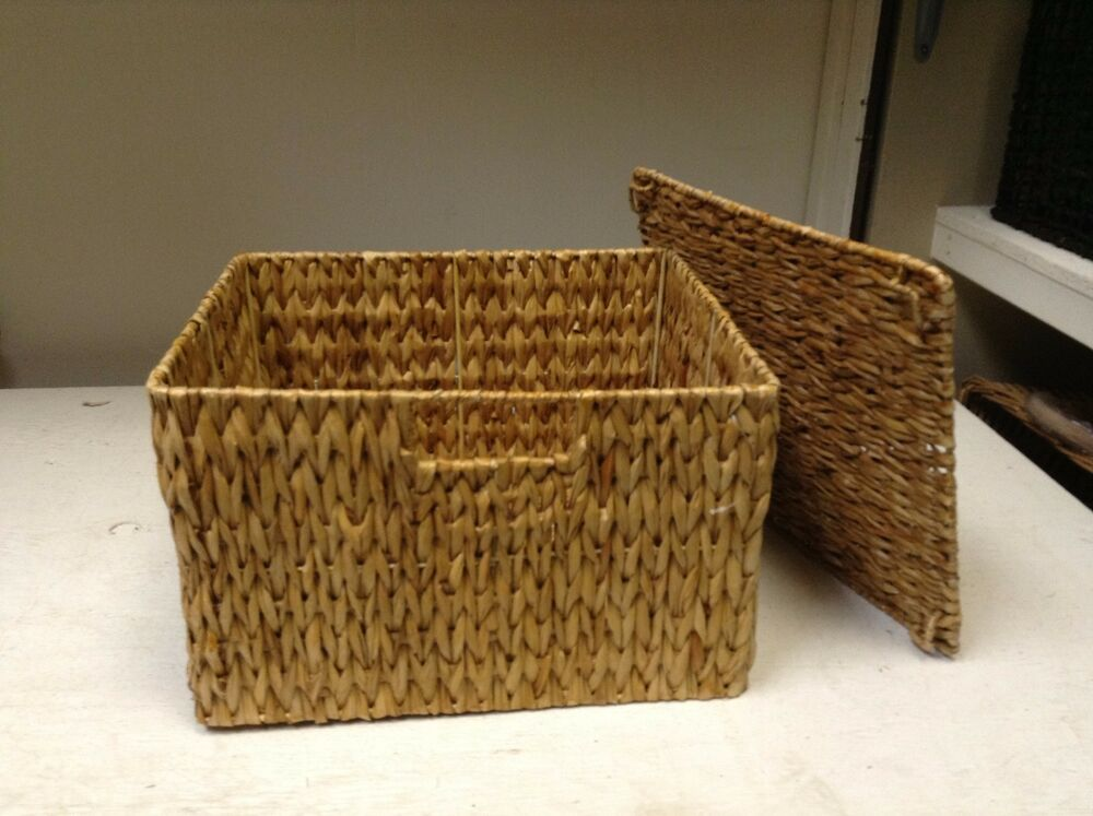 Seagrass Wicker Storage Mail Tray Paper Office Basket