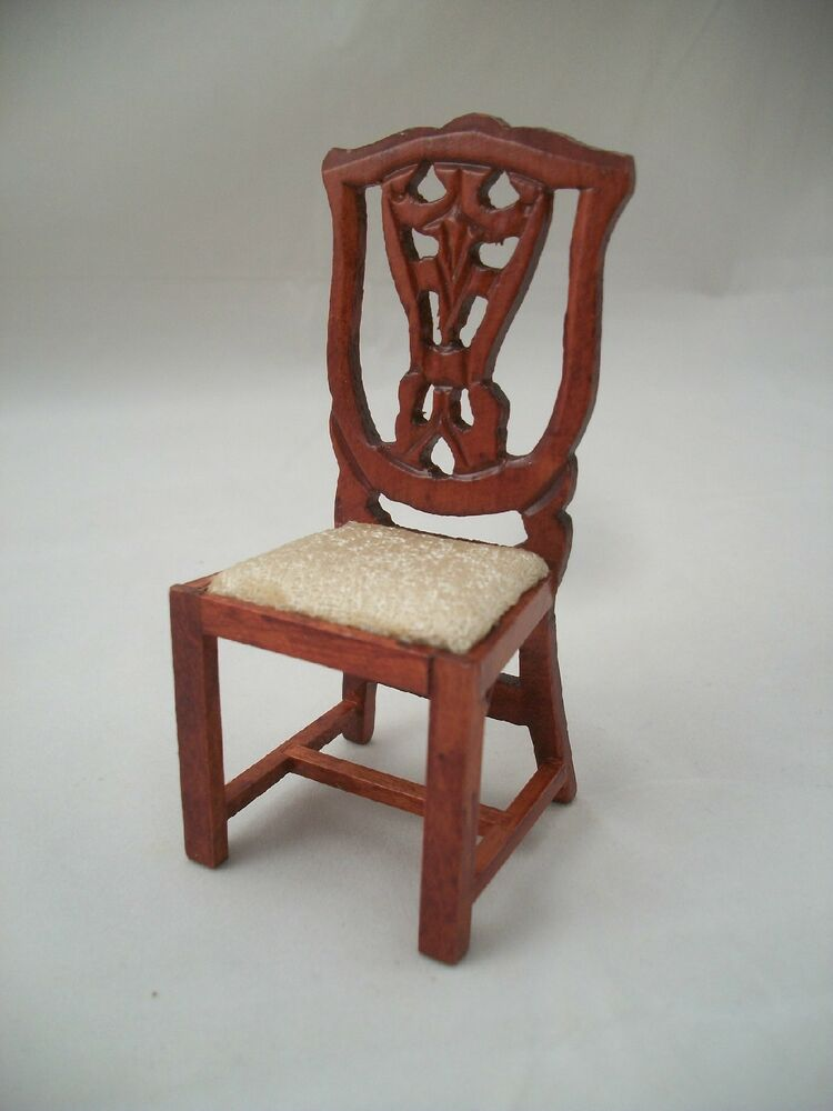 Victorian side chair dollhouse miniature wooden furniture t3275 1 12 scale ebay Dollhouse wooden furniture