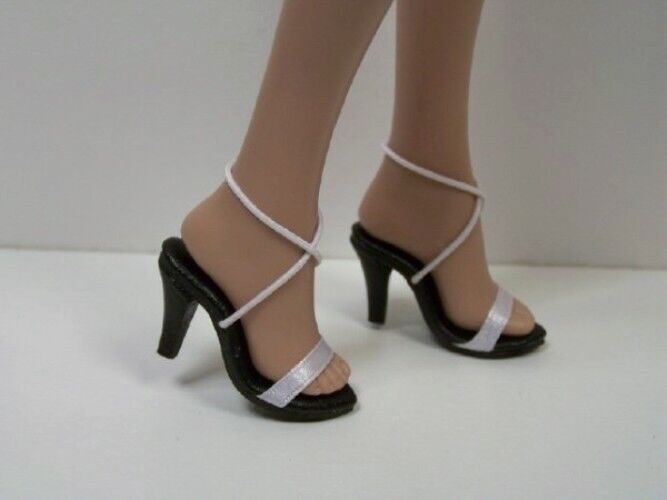 white ribbon sandals high hi heel doll shoes for 16 quot