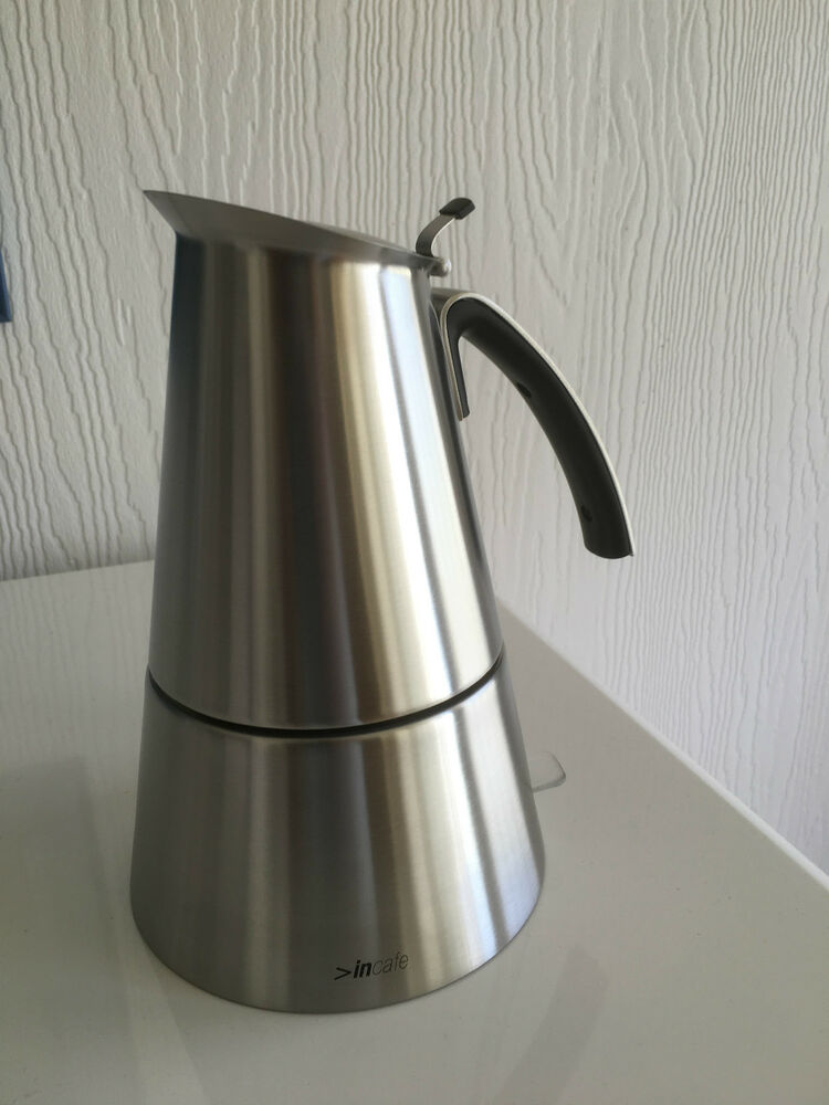 electric espresso coffee maker stainless steel 6 cup moka pot ebay. Black Bedroom Furniture Sets. Home Design Ideas