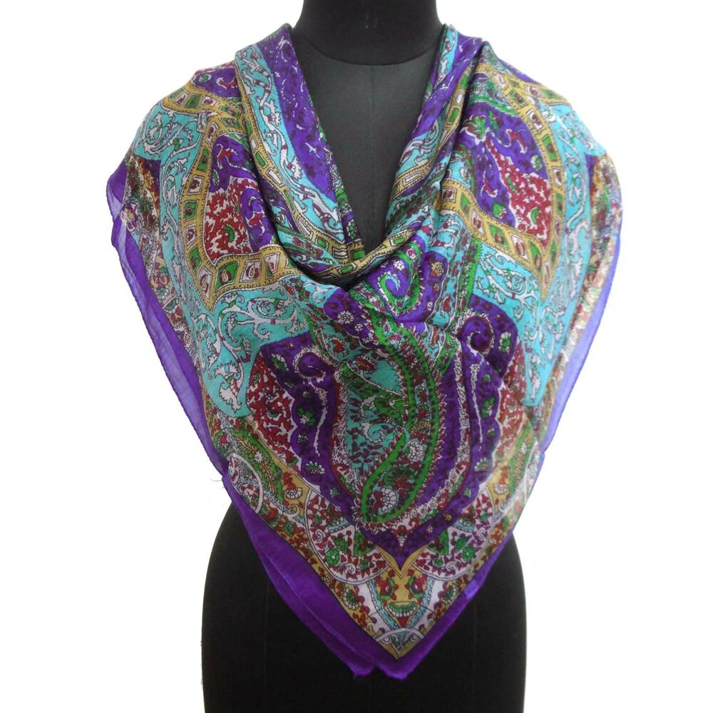 new 100 silk scarf square abstract fashion