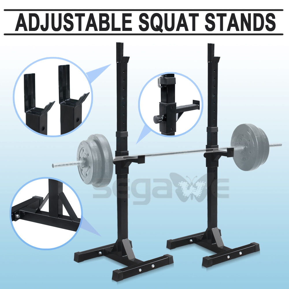 Rack Barbell Stand Home Gym Squat Crossfit Weights Lifting Bench Press Ebay