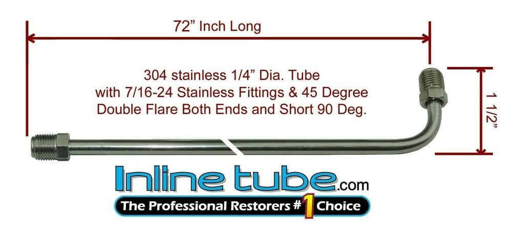 Quot brake line inch stainless steel degree bend