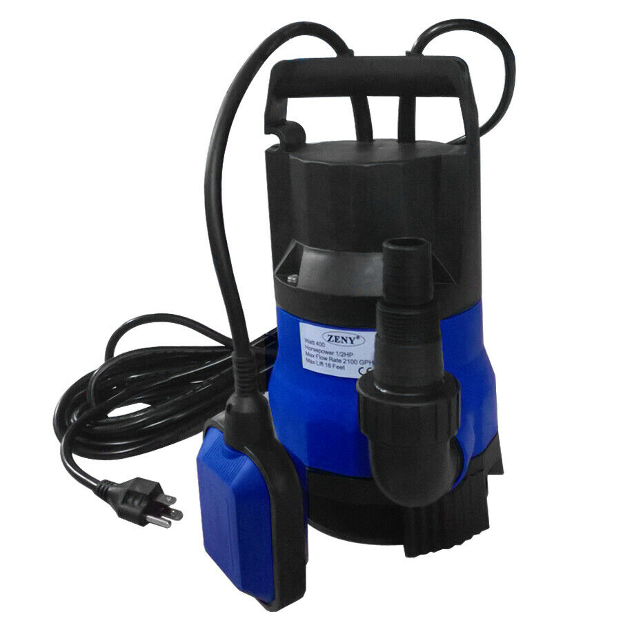 400w submersible dirty clean water pump 1 2 hp flooding for Pond water pump