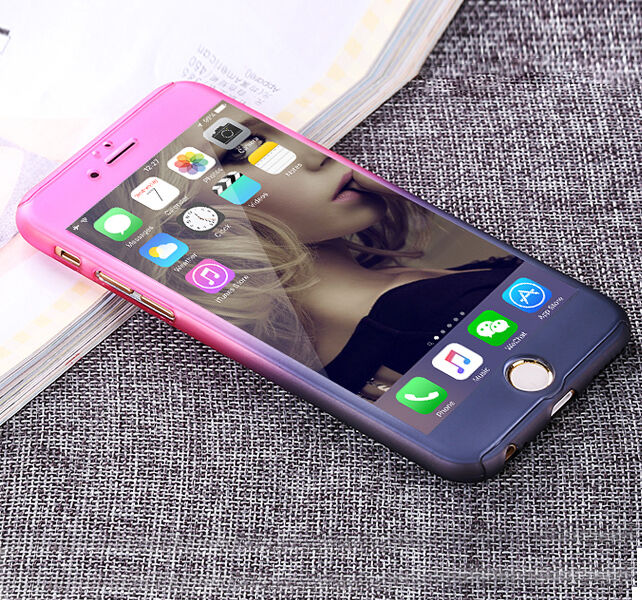 hybrid 360 tempered glass acrylic hard case cover for