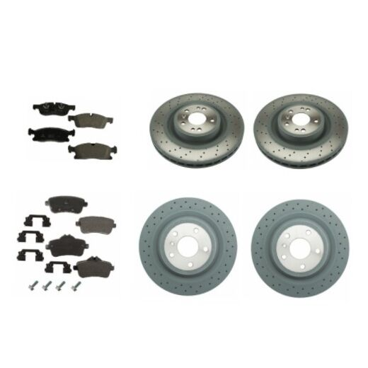Front and rear brake kit rotors brake pads genuine for Mercedes benz gl450 brake pads