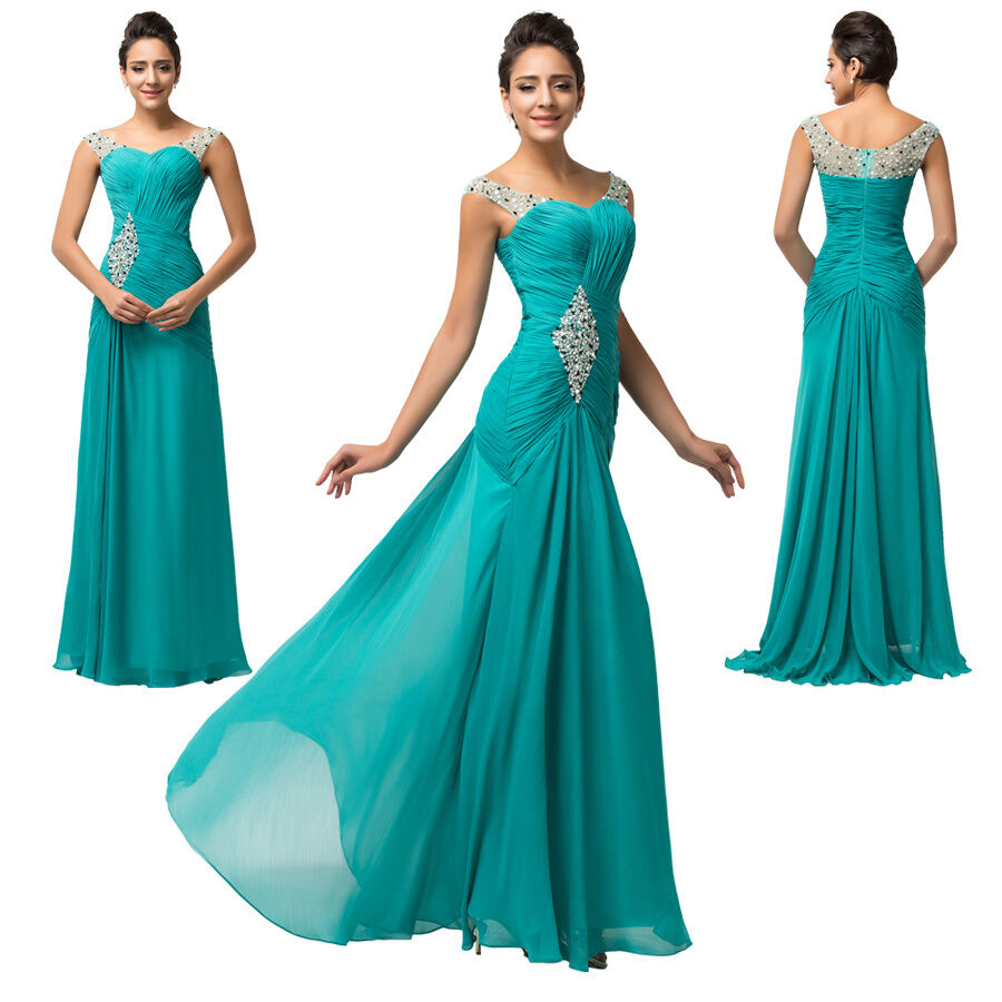 Sale cheap long bridesmaid evening prom ball gowns formal for Ebay wedding bridesmaid dresses